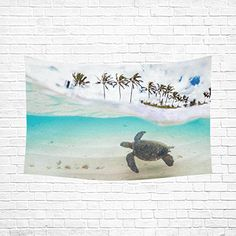 InterestPrint Ocean Theme Turtle Wall Hanging Tapestry - Beachfront Decor