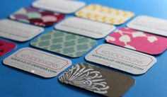 fabric-backed business cards.  great for an interior designer or seamstress.