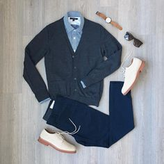 Feeling formal this Sunday. Hope everyone is having a great weekend! Casual Wear For Men, Mens Fashion, Fashion Outfits, Business Casual, Casual Looks, J Crew, Pants, Trousers, Dressing