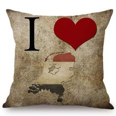 I love this country pillow cover series Square Hidden zipper Linen / Cotton Washable and removeable Money-Back Guarantee National Flag, Pillow Covers, Owl, Cases, Throw Pillows, Country, My Love, Pattern, Pillow Case Dresses