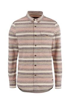 Matteo L/S Shirt brown striped