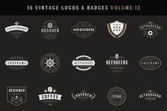 15 Retro Vintage Logotypes or Badges by Vasya Kobelev on @creativemarket