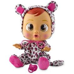 Poor little Cry Baby Lea! Give her the dummy and a cuddle to stop her from crying. She cries real tears and makes baby noises! Her arms and legs are movable for more playtime fun. She also comes with her own changeable animal print onesie! Child Doll, Boy Doll, Girl Dolls, Cry Baby, Fake Baby, Cool Toys For Girls, Girls Toys, Kids Girls, Girls Shoes