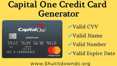 credit card design wells fargo Capital One Credit Card Numbers Generator - Valid CVV Details Number Generator, Money Generator, Gift Card Generator, Credit Card Hacks, Best Credit Cards, Credit Score, Chase Credit, Build Credit, Credit Check
