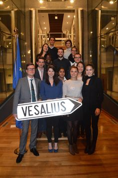 This picture was taken at Vesalius College following our international Model European Union conference.
