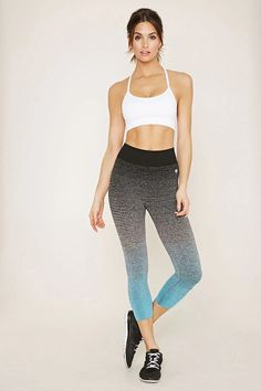 cbb43e78e5 Active Ombre Capri Leggings  f21active Yoga Fashion