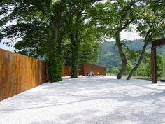 Casagrande & Rintala - Meditation park- The park is situated in Nakasato village valley, known in Japan for its high quality of rice. The site is a gentle slope between the rice fields and Kuramata river.