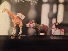 Leuk idee om kleine cadeautjes in te pakken. Ook leuke kerstversiering. (Uit Libelle 48)