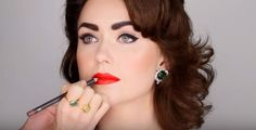 MAC Lip Pencil in Plum | Elizabeth Taylor-Inspired Makeup Tutorial, check it out at http://makeuptutorials.com/elizabeth-taylor-makeup-tutorial