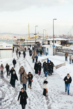 Eminonu Ferry Port by winter, Istanbul Us Travel, Places To Travel, Places To Visit, Adventure Holiday, Adventure Travel, Places Around The World, Around The Worlds, Visit Turkey, Dream City