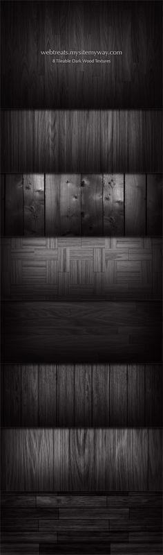 8 Tileable Dark Wood Textures by WebTreatsETC.deviantart.com on @deviantART