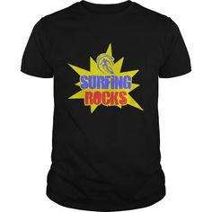Surfin Rocks Great Gift For Any Surfer That Rocks T Shirts, Hoodies. Check price ==► https://www.sunfrog.com/LifeStyle/Surfin-Rocks-Great-Gift-For-Any-Surfer-That-Rocks-Black-Guys.html?41382