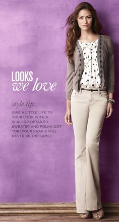 Stay warm inside the cold conference rooms with this long-sleeve business casual outfit (source: Ann Taylor LOFT) Cute Teacher Outfits, Teaching Outfits, Teacher Style, Cool Outfits, Work Fashion, Fashion Looks, Fashion Outfits, Womens Fashion, Business Casual Outfits
