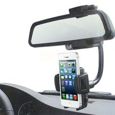 Universal 360 Car Rearview Mirror Mount Holder Stand Cradle For Cell Phone GPS - Iphone Car Holder - Car Mount for IPhone - - Iphone Car Mount, Iphone Car Holder, Cell Phone Car Mount, Iphone Autohalterung, Android Ou Iphone, Car Accessories, Cell Phone Accessories, Wrangler Accessories, Magnetic Phone Holder