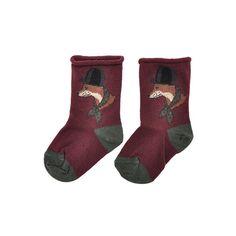 chaussettes renard myrtille