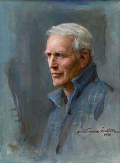 Portrait of Paul Newman, by Everett Raymond Kinstler--one of my favorite American artists.