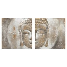 Bring Zen-inspired style to your decor with this serene canvas, showcasing a Buddha motif with a textured finish.     Product: ...