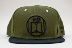 "Image of JONATHON THE DOG ""LOGO"" SNAPBACK OLIVE / BLACK"