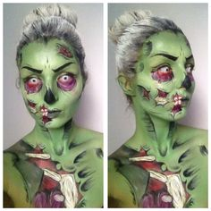 My own work! MUA Chloë Köpping :) cartoon zombie, comic zombie, special FX