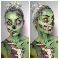 My own work! MUA Chloë Köpping :) cartoon zombie, comic zombie, special FX