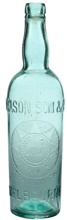 Extra large size (305 mm tall & wider) Dyason Son & Co., Melbourne. Emu wreath & geometric design trade mark. Applied top. c1900s.