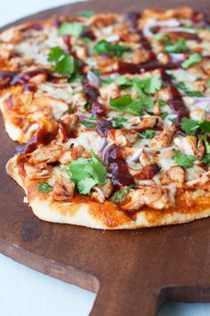 Made this tonight and made the bbq sauce she linked to!  Used crescent roll for the crust and added some sweet corn to the pizza...incredible!