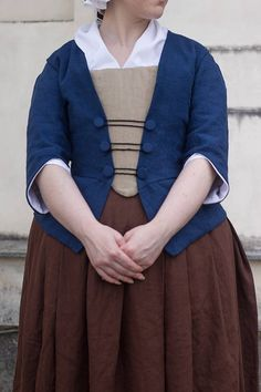 15% off 18th century jacket and stomacher in linen choose