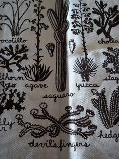 Devil's Fingers - vintage cactus fabric