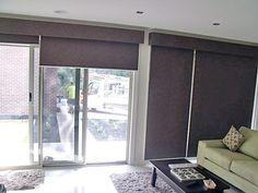 Roller blinds mount on architrave pelment
