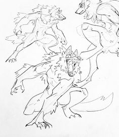Animal Sketches, Animal Drawings, Art Sketches, Art Drawings, Fantasy Character Design, Character Art, Werewolf Art, Poses References, Creature Drawings