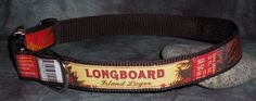 Adjustable Dog Collar from Recycled Longboard beer labels by squigglechick, $23.00