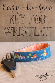 Easy-to-Sew Key Fob Wristlet from Crafty Staci