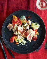 Oil-Poached Tuna with Fennel and Orange Recipe on Food & Wine