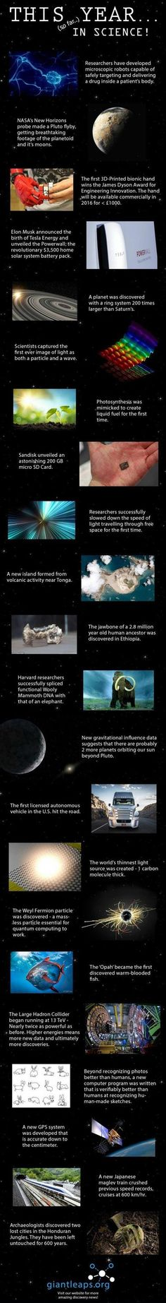 This year (so far) in science #amazing!!!