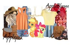 """My Little Pony-Applejack and Applebloom"" by didneyworl ❤ liked on Polyvore featuring Boohoo, maurices, My Little Pony, Daytrip, Topshop, RVCA, Merona, Dr. Martens and Journee Collection"