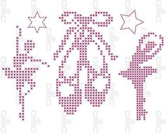 0 point de croix danseuses et chaussons de danse - cross stitch dancers and…