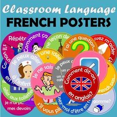 French Flashcards Classroom Language | by Mme Gauthier's French Class | $2.50