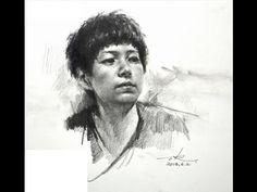How to draw portrait tutorial by Zhu Kai Master Artist - YouTube