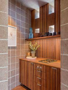GAL - Silvertop — Jamie Bush + Co. John Lautner, Kitchenette, Modern Architecture, Teak, Mid-century Modern, Kitchen Cabinets, Storage, Interior, House