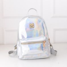 e440ca26e505a suutoop holographic backpack mochilas feminina women silver hologram laser  men s back pack leather bagpack school bags zaino