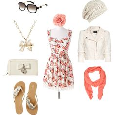 I love the simplicity of this look, created by shauna-rogers bunchofcandy Fashion D, Vintage Fashion, Fashion Outfits, Cute Summer Outfits, Cute Outfits, Skirt Outfits, High School Fashion, Classy And Fabulous, Style Guides
