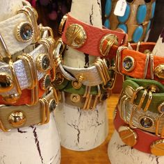 Leather bracelets.... just an idea