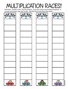 Do you need a great center activity? This is a great game for third grade! It includes the multiplication cards!