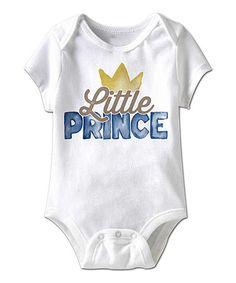 Look at this #zulilyfind! White 'Little Prince' Bodysuit - Infant by Urs Truly #zulilyfinds