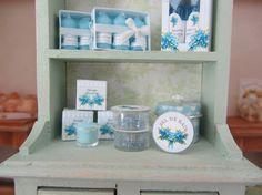 Forget-me-not Soap Shop ~1 Tin Bath Salt~ Dollhouse Miniature 1inch Scale