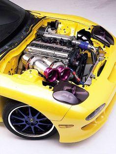 twin turbo 2jz in rx7 FD