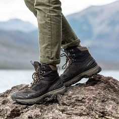 Breeze AT hiking boots from Vasque Leather Hiking Boots, Hiking Boots Women, Men Hiking, Trail Shoes, Hiking Shoes, Waterproof Hiking Boots, Suede Leather, Retro Fashion, Footwear