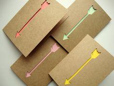 Ensemble de 4 flèche papier coupe des cartes de par AshleyPahl