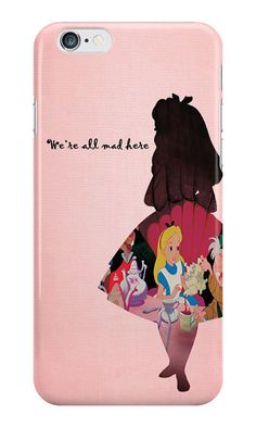 """Alice in Wonderland """"We're All Mad Here"""" iPhone case Iphone Cases Disney, Cool Iphone Cases, Cool Cases, Cute Phone Cases, Coque Iphone, Iphone 7, Were All Mad Here, Phone Covers, Apple Products"""