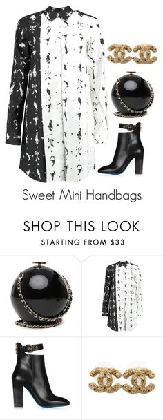 """Sweet Mini Handbags"" by jadebsaucier ❤ liked on Polyvore featuring MM6 Maison Margiela, Loriblu and Chanel"